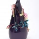 Unik vas - Aqua blom