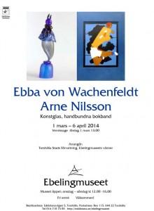 VernissageinbjudanEbba von Wachenfeldt och Arne Nilssonx